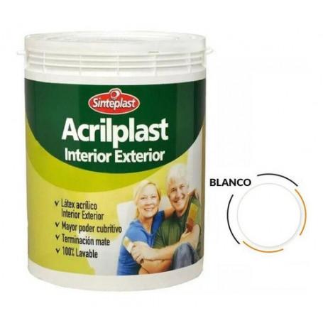 Pintura Látex Acrilplast Interior/exterior 10 Lt Blanco
