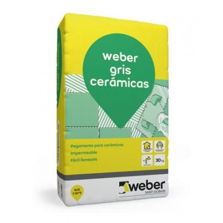 Pegamento Gris Cerámicas Weber 30 K Pared Piso Interior
