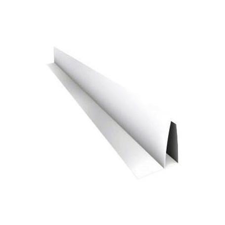 Perfil Perimetral Pvc Blanco F Para Machimbre De10mm X 6mts Largo
