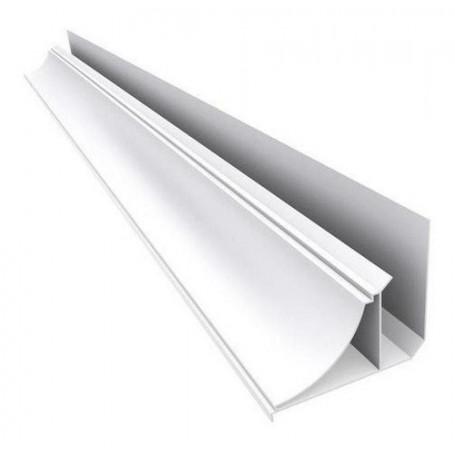 Pvc Blanco Perimetral Moldura De Steel Plastic 9mm X 4,00m