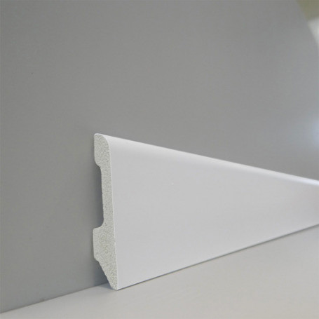 Zócalo Top Round 57 (blanco Polar) - 1,4cm X 5,4cm X 240cm
